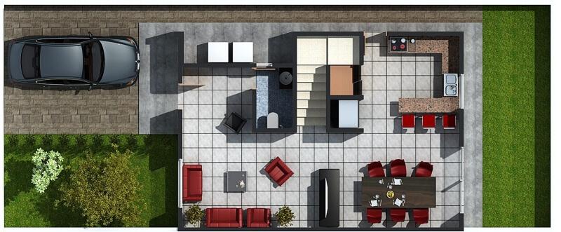 Casas guri for Modelos casas planta baja